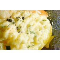 Gevulde aardappel met blauwe schimmelkaas